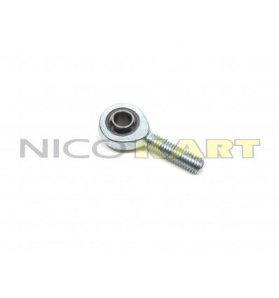 Uniball tirante sterzo/cambio M8 maschio destro acciaio/acciaio