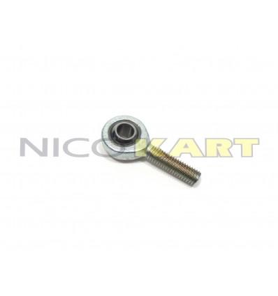 Uniball tirante sterzo/cambio M8 maschio sinistro acciaio/acciaio