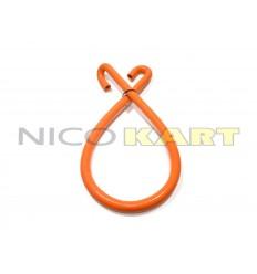 Manicotto in silicone con 2 curve a 180° L.1200mm colore arancione