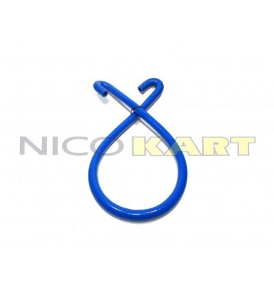 Manicotto in silicone con 2 curve a 180° L.1200mm colore blu