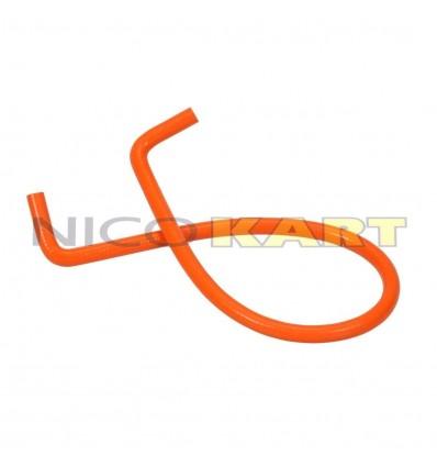 Manicotto in silicone con 2 curve a 90° L.1200mm colore arancione