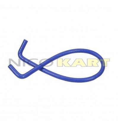 Manicotto in silicone con 2 curve a 90° L.1200mm colore blu