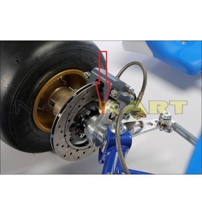Piastrina supporto pinza anteriore KZ destra per fusello TOP KART