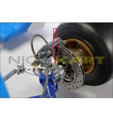 Piastrina supporto pinza anteriore KZ sinistra per fusello TOP KART