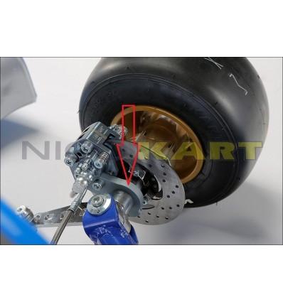 Piastrina supporto pinza anteriore KF sinistra per fusello TOP KART