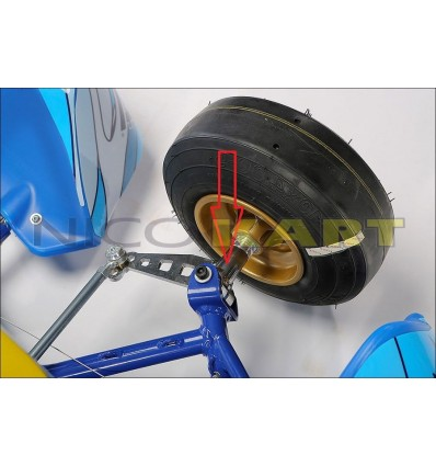 Fusello TOP KART sinistro per MINI-BABY 2008-2017-KID KART D.17mm,