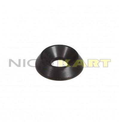 Rondella conica in alluminio Di.6 De.18mm