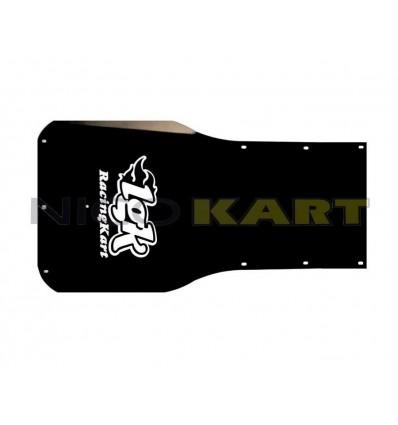 Pedana LGK in alluminio anodizzato nero con logo