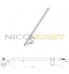 Piantone sterzo M8 L.550mm per 100-KF-KZ-OK-OKJ