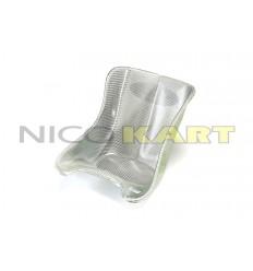 Sedile TOP KART per MINI  in vetroresina simil carbonio bianco