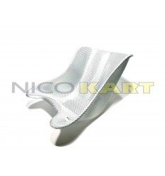 Sedile X6 in vetroresina simil carbonio bianco