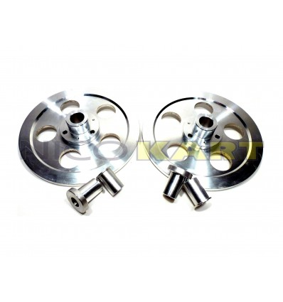Coppia dischi convergenza in alluminio componibili