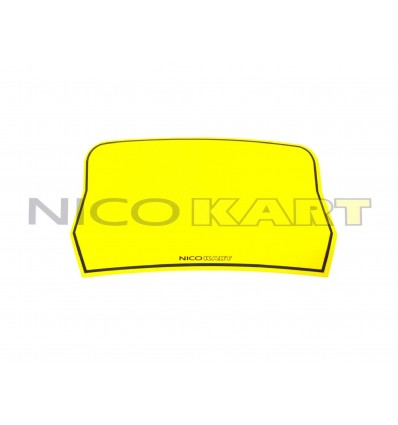 Tabella adesiva gialla per paraurti posteriore 100/KF/OK/KZ