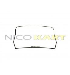 Tabella adesiva bianca per paraurti posteriore 100/KF/OK/KZ