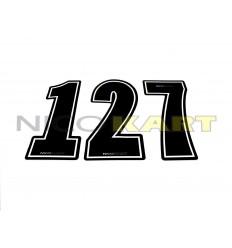 Numero adesivo stilizzato laminato/spessorato