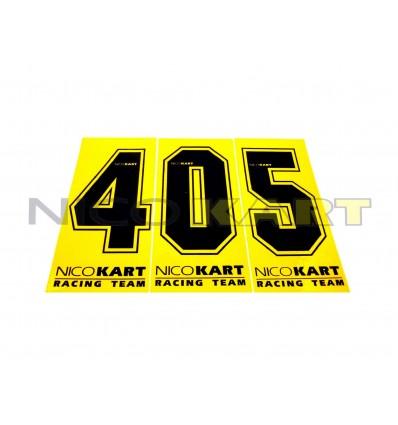 Numero adesivo fondo giallo