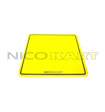 Tabella adesiva gialla per carenature laterali e frontalino