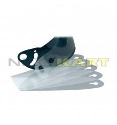 Confezione n°5 pellicole a strappo per visiera caschi GP 8K CARBON/KJ-8 CARBON/GP 8K/KJ-8