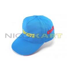 Cappellino TOP KART- COMER blu con ricamo