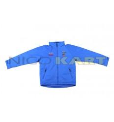 Giacca a vento TOP KART-COMER blu con ricamo