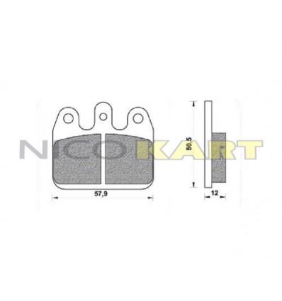 Pastiglia posteriore compatibile CRG VEN 05