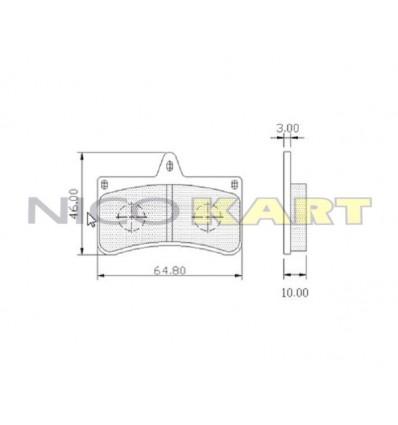 Pastiglia posteriore compatibile CRG/MARANELLO VEN 04