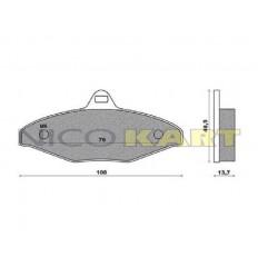 Pastiglia posteriore compatibile CRG VEN 99