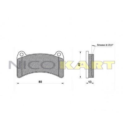 Pastiglia posteriore compatibile LGK/INTREPID/PRAGA/KABS EVO08
