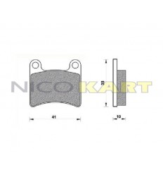 Pastiglia anteriore KZ compatibile LGK/INTREPID/PRAGA/KABS EVO08