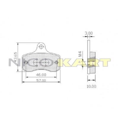 Pastiglia anteriore KZ compatibile TONY KART