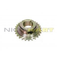 Corona in acciaio passo 1/2-428 per 125 KZ D.40mm
