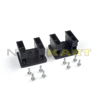 Kit placche KG x montaggio spoiler anteriore omologate CIK