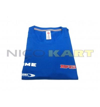 T-SHIRT TOP KART-COMER blu con stampa