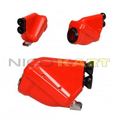 Silenziatore d'aspirazione ACTIVE colore rosso con tromboncini neri