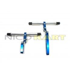 Supporto radiatore CNC in alluminio anodizzato regolabile con snodi