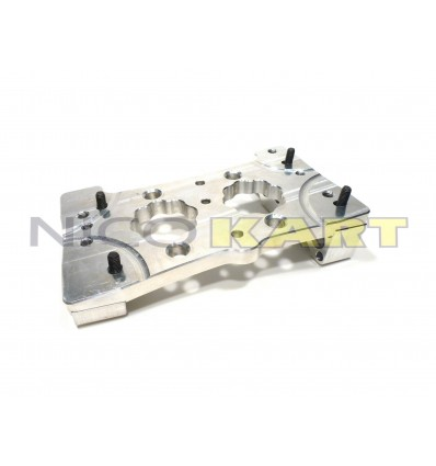 Piastra motore CNC in alluminio per motore TM K9-B-C inclinata 8,5°