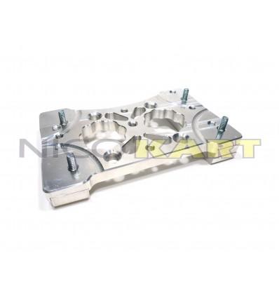 Piastra motore CNC in alluminio ricavata dal pieno, per motore TM KZ10-B-C, inclinata 2,5°