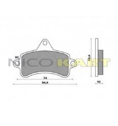 Pastiglia anteriore KZ compatibile TOP KART-MBA