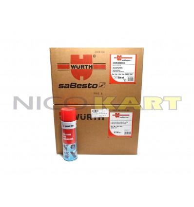 Due cartoni da 24 Pzz. bomboletta spray pulitore freni WURTH 500ml