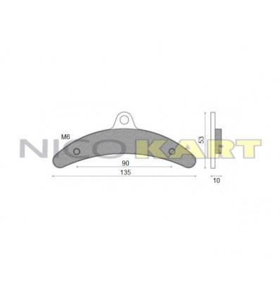 Pastiglia freno posteriore compatibile BIREL III^ serie