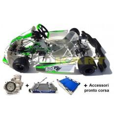 Go-Kart LGK Mustang KZ CIK-FIA 88/CH/17 + Motore TM KZ10C Base + accessori pronto corsa