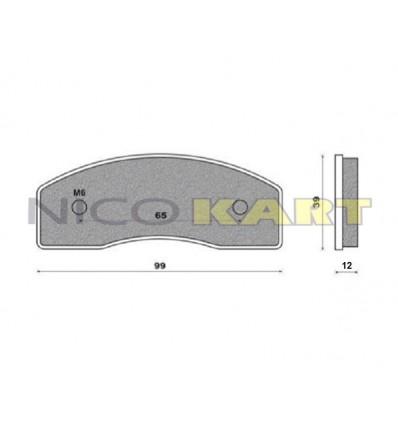 Pastiglia posteriore compatibile TOP KART