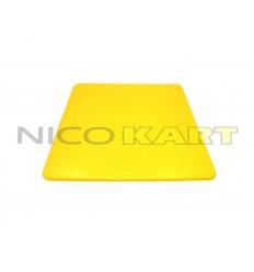 Tabella porta numero posteriore in plastica gialla