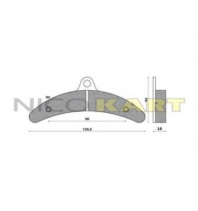 Pastiglia freno posteriore compatibile BIREL II^ serie