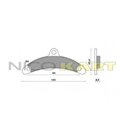 Pastiglia freno anteriore KZ compatibile BIREL III^ serie