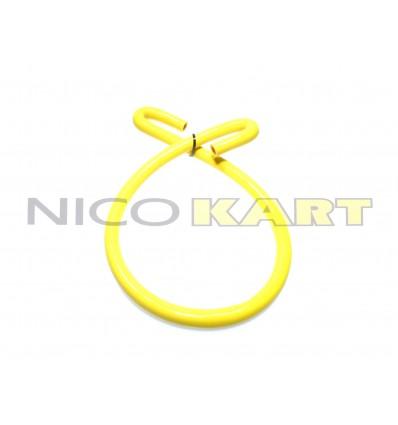 Manicotto in silicone con 2 curve a 180° L.1200mm colore giallo