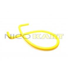 Manicotto in silicone con 2 curve a 90° L.1200mm colore giallo