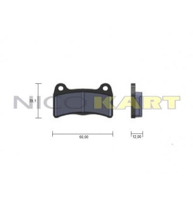 Pastiglia posteriore compatibile IPK-FORMULA K