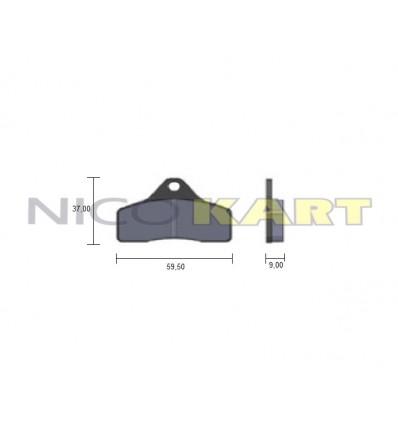 Pastiglia anteriore KZ compatibile TONY KART impianto BSS 2015