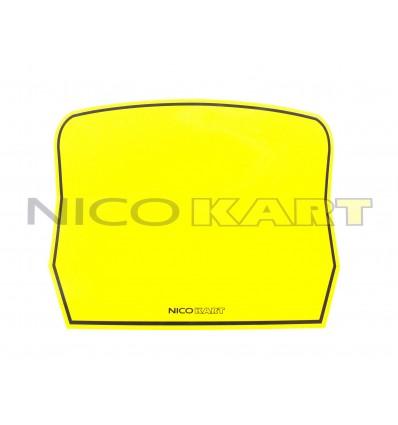 Tabella adesiva gialla per paraurti posteriore 60 MINI